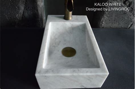 400mm White Marble Wash hands Stone Basin KALOO WHITE