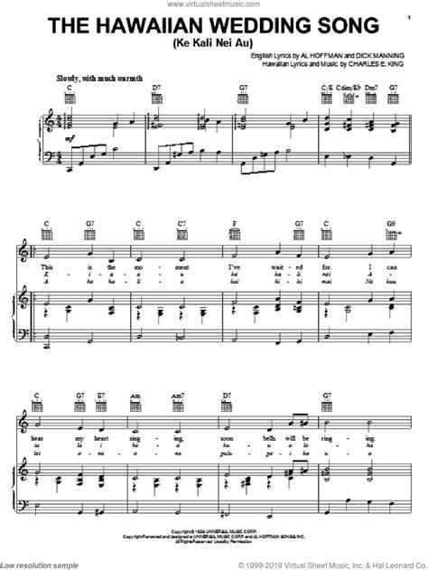 Williams - The Hawaiian Wedding Song (Ke Kali Nei Au