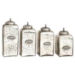 kitchen counter canisters glass canister set 4 numbered mercury jars lids vintage