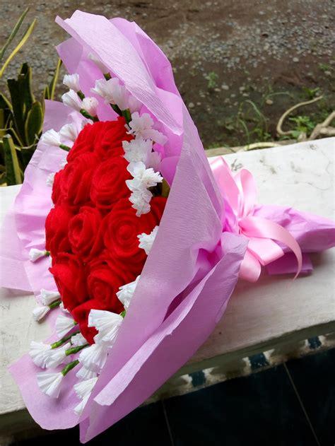 bunga flanel cantik jual bunga murah jambi