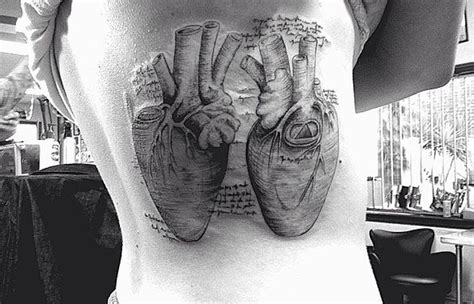 leonardo da vinci anatomical heart tattoo tattoos