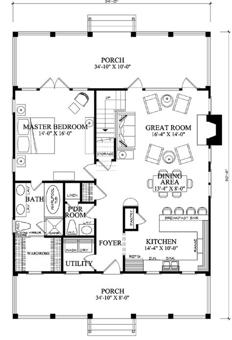 perfect home plans first floor plan of cottage country farmhouse house plan