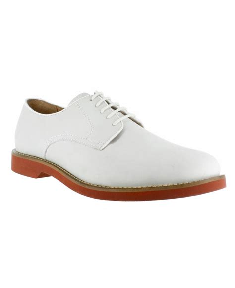 g h bass co buckingham signature buck oxfords in white