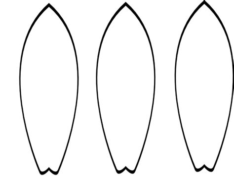 surfboard drawing template