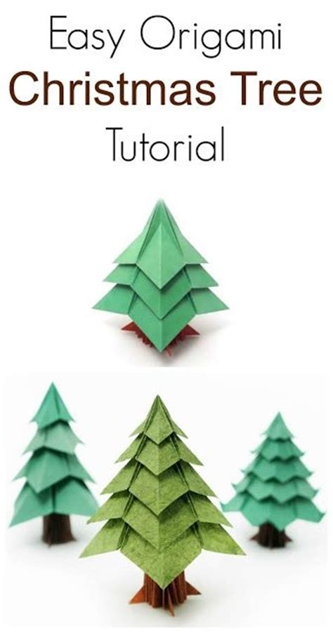 step by step christmas tree oragami wiki with pics diy easy origami tree tutorial pinteres