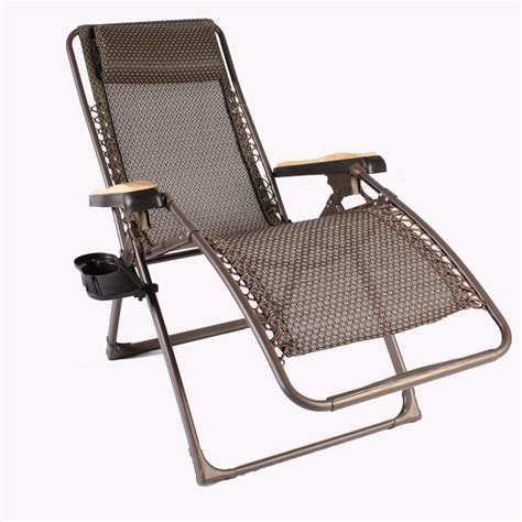 Outdoor Furniture Zero Gravity The Zero Gravity Lounger Brown Sling By Leisure Select