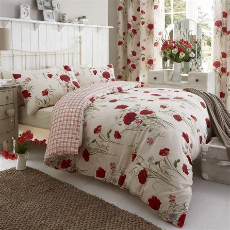 catherine lansfield catherine lansfield poppies duvet cover set