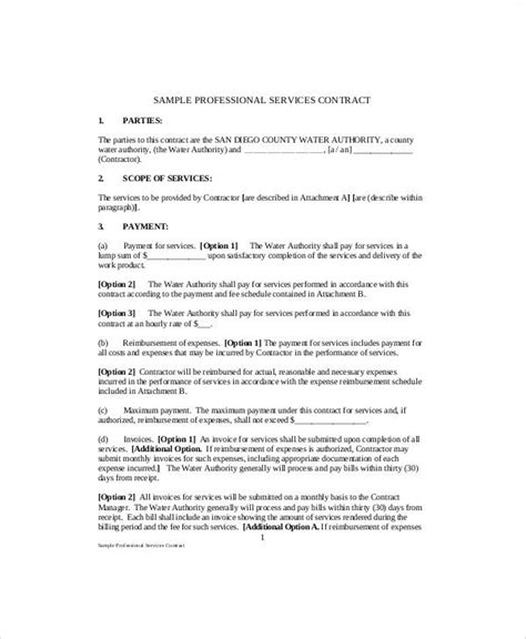 standard service contract standard service contract sle 7 exles in word pdf
