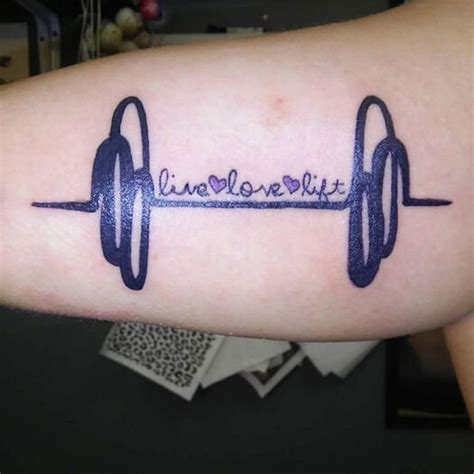 fitness tattoo 17 best images about and dumbells tattoos ideas on