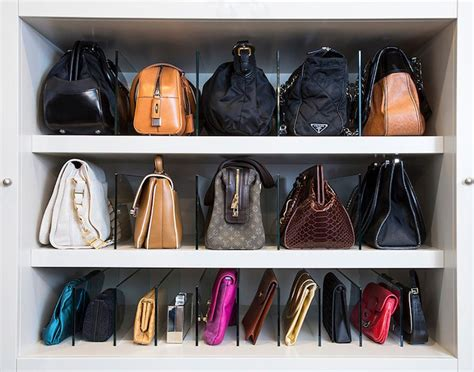 Lemari Tas easy handbag storage ideas
