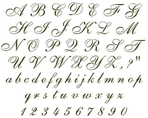 cursive tattoo letters cursive font sle handwritten sles fonts