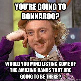Bonnaroo Meme - you re going to bonnaroo would you mind listing some of