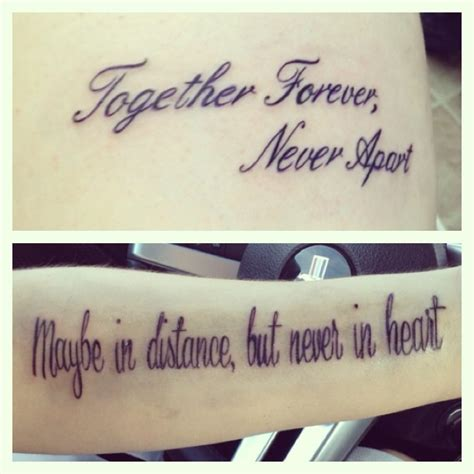 awesome pics quot together forever never apart quot quotes for couples tattoos image quotes at relatably