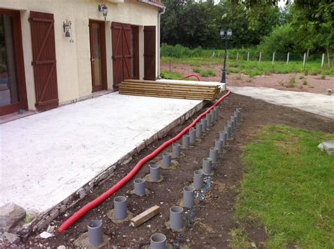 Terrasse Bois Ou Beton 3794 by Construire Terrasse Bois Composite Ou Beton