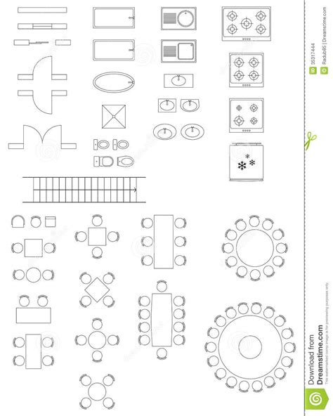 standard furniture symbols used in architecture plans assignment id cidi