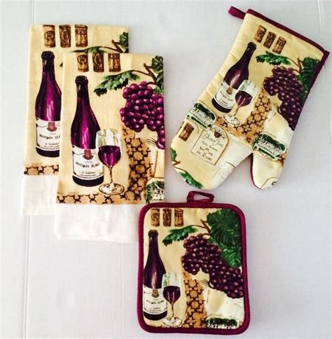 wine themed kitchen ideas 25 best kitchen linens sets ideas on kitchen