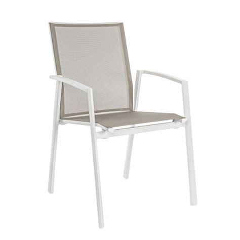 sedie in alluminio per esterno sedia da esterno cruise by bizzotto in alluminio impilabile