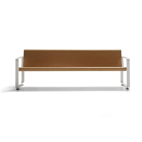 wooden bench with back wooden bench seating with back neos by inclass mobles