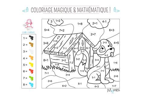Coloriage Magique Et Math 233 Matique Le Chien Momes Net Jeux Coloriage Magique Gratuit L