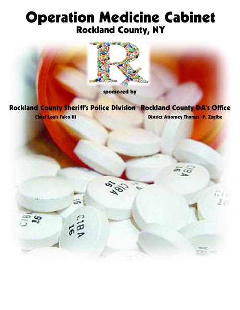Operation Medicine Cabinet by Rockland County Sheriff S Office News Operation Cabinet