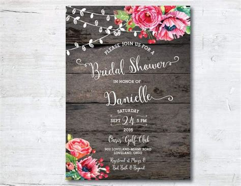 25 Best Ideas About Invitation Templates On Pinterest Free Printable Rustic Bridal Shower Invitation Templates