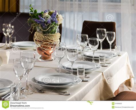 wedding reception table settings photos table set for event or wedding reception stock photos image 31606653