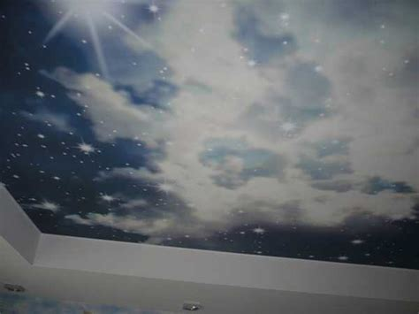 Sky Painting On Ceiling by Ceiling Designs With Led Lights For