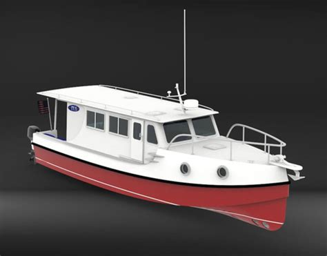best semi displacement boat a trailerable outboard boat with a trawler look blog