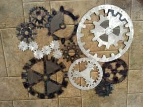 industrial wall decor items similar to gears industrial steunk wall