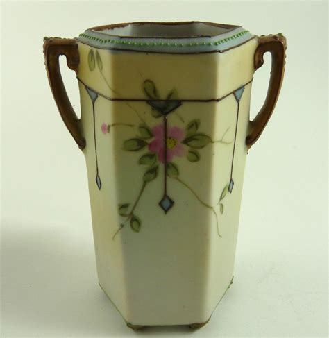 painted nippon porcelain cabinet vase from ornaments