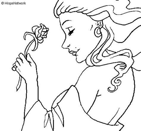 imagenes para dibujar una rosa dibujo de princesa con una rosa para colorear dibujos net