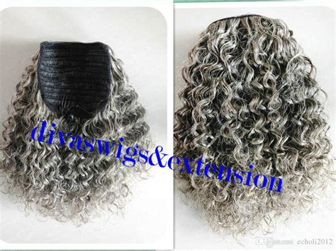 gray and black wrap hairstyles 100 real hair gray puff afro ponytail hair extension clip