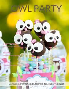 owl theme items similar to party plan kids birthday party plan