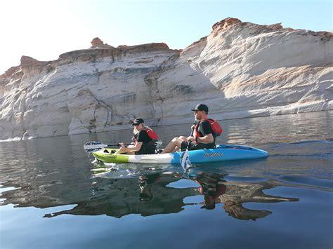 antelope canyon kayak morning  lake powell adventure