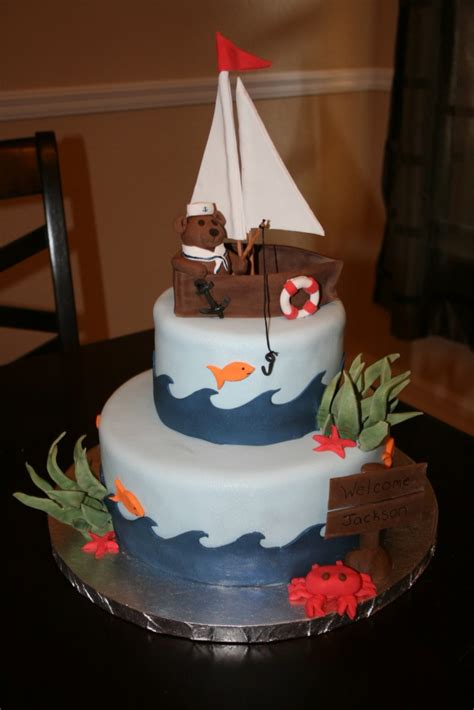 sailing boat decoration sailboat cakes decoration ideas little birthday cakes
