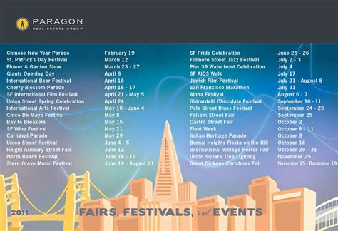 San Francisco Events Calendar 2011 San Francisco Events Calendar Macpherson