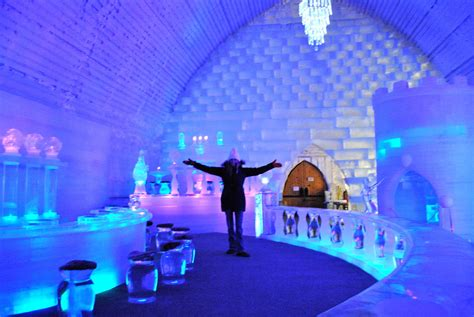 quebec city ice hotel winter   day bus trip  toronto short trips weekend travel