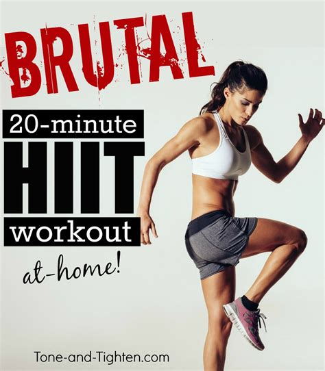 20 minute hiit workout tone and tighten