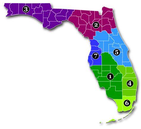 florida dot district map fdot districts florida bicycle association