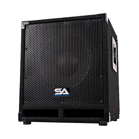 dj speaker box cabinet seismic audio powered 12 quot pro audio subwoofer cabinet