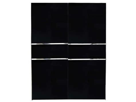Armoire 2 Portes Coulissantes by Armoire 2 Portes Coulissantes Glass Coloris Noir Vente
