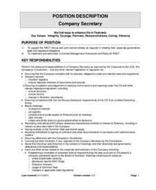 secretary job description example 10 free word pdf