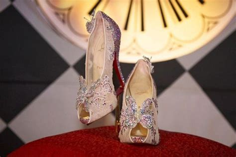 louboutin glass slipper louboutin s cinderella slippers unveiled ny daily news