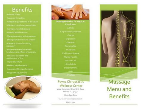 massage therapy brochure sles