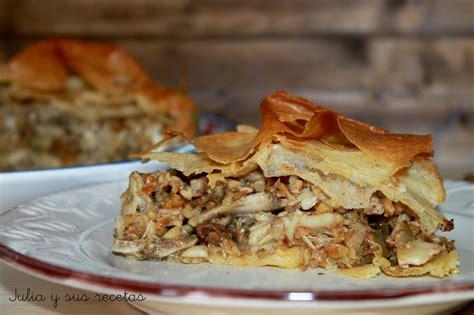 cocina marroqui pastela pastela moruna de pollo