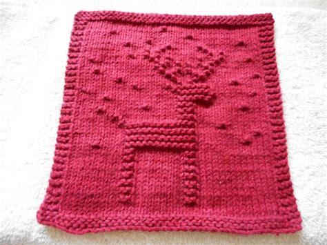 pattern knitting dishcloth reindeer dishcloth by bubweez2745645 craftsy