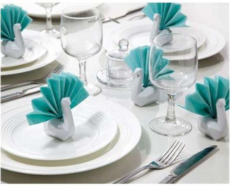 Origami Napkin Swan - origami serviette birds swan napkin holders
