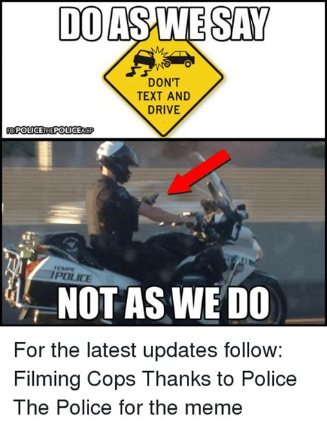 doaswesay dont text  drive policethepolicea tempe