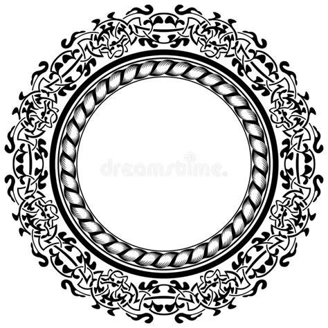 cornici celtiche schwarzer rahmen vektor abbildung illustration dekor