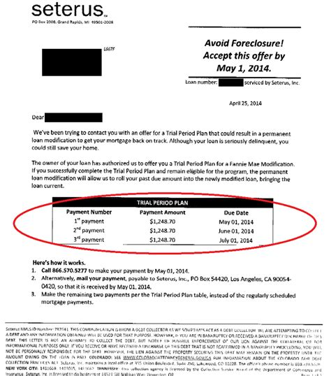 Loan Modification Approval Letter Seterus Loan Modification Approval Borrower Was 3 Months On Their Mortgage Yelp
